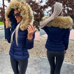 Tailored winter jacket (navy blue)