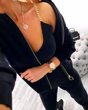 Black 3 Piece Casual Set