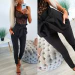 Grey High Waist Pocket Classy Pants