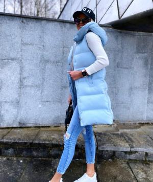 Light Blue Short Buffer Vest
