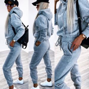 Grey Soft Tracksuit Set