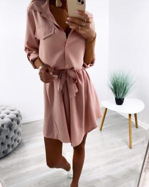 Sārts Tie Shirt Dress