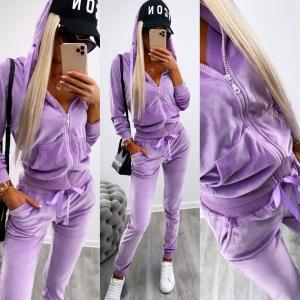 Purple Velvet Tracksuit Set