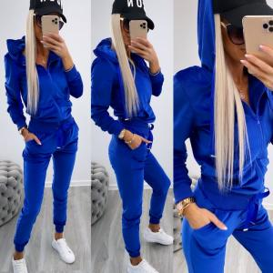 Blue Velvet Tracksuit Set