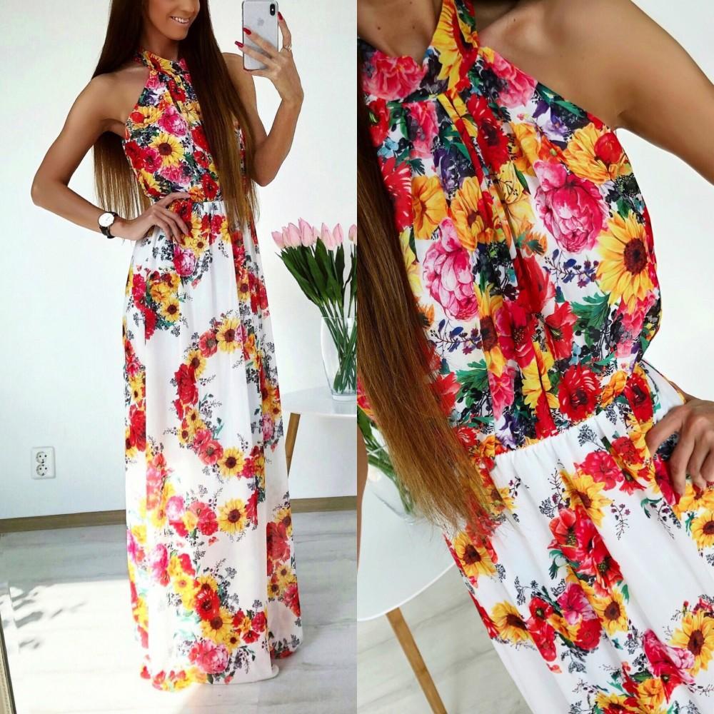 a47f615c887 Flower Siphon Maxi Dress - AIRILY