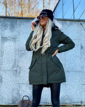 Winter parka with waterproof outer layer (khaki)