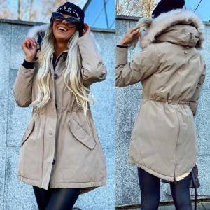 Winter parka with waterproof outer layer (beige)