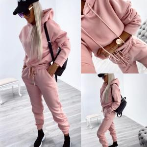 Light Pink Soft Tracksuit Set