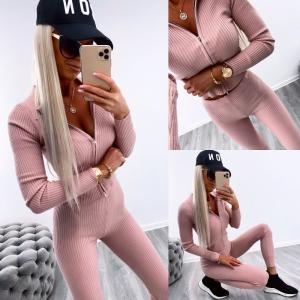 Pink casual two-piece set (sārts)