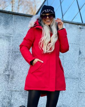 Winter parka with waterproof outer layer (red)