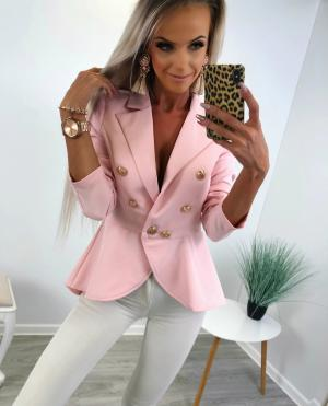 Fashionable peplum jacket (pink)