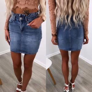Blue Srtech Denim Skirt