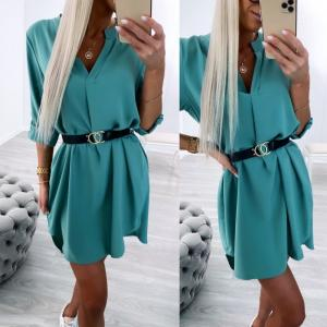 Green Belted Shirt-dress