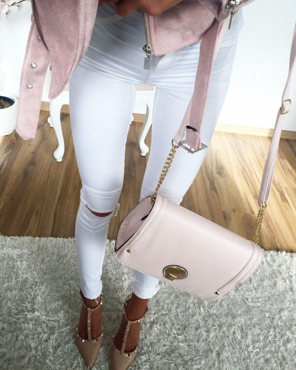 Pink Spacious Shoulder Bag