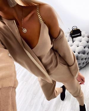 3 piece casual set (bēša)