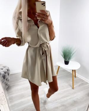 Bēša Tie Shirt Dress